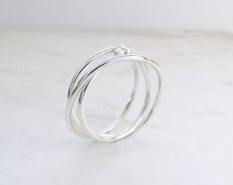 Sierra Triple Spiral Ring