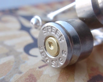 357 SIG... Premium Bullet Shell Cufflinks  Two Tone silver and gold
