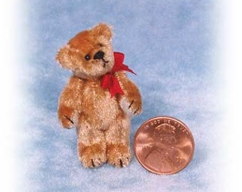 "PDF Pattern & Instructions for Miniature Teddy Bear - Tiny Fatso - 1 1/2"" tall -  by Emily Farmer"
