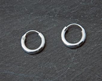 Sterling Silver Hoop Earrings - Silver Hoop Earrings - Tiny Hoop Earrings - Hoop Earrings - Silver Hoop Tiny,027H-10