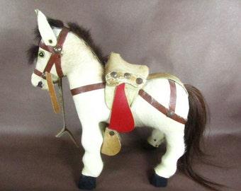 Pony,horse,Vintage real fur animal toy,fur animal figurine,vintage animal,horse toy,taxidermy horse,