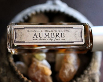 Aumbre Natural Perfume Atomizer  - 6 grams of the Eau de Parfum - A delicious amber steeped in incense, smoke, tobacco and vanilla.