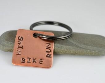 Triathlete Keychain, Triathlon, Ironman, Run Bike Swim, Triathlete, Gift for Ironman, Triathlon Keychain, Runner, Swimmer, Biker