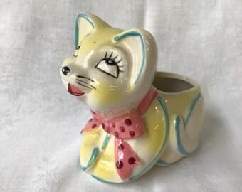 VINTAGE CAT JAPAN Planter Pottery