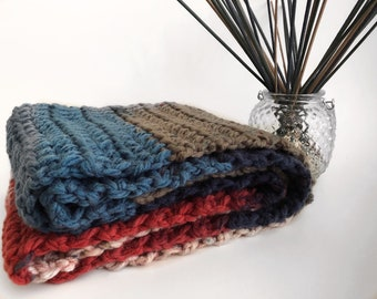 Scarf - Handmade -  Crochet - Long - Multi-Color