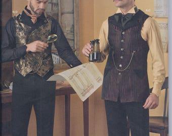 Simplicity 8408 Mens Steampunk Costume Victorian Shirt Vest Waistcoat UNCUT Sewing Pattern