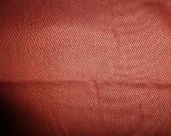 NO. 57-FABRIC WOOL POLYESTER - EFFECT COTTON WOVEN - RUST COLOR