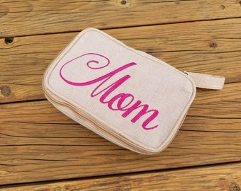 Personalized Gift, Embroidered Toiletry bag, Personalized cosmetic bag, Custom cosmetic bag, Personalized Travel bag, makeup bag Sew4MyLoves