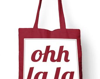 Ohh lala Funny Food Tote Bag For Life Shopper Shopping E76