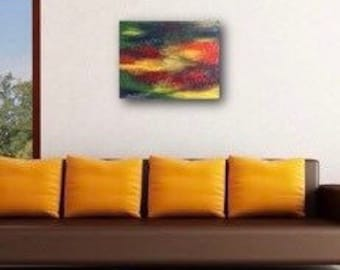 Colorful abstract oil painting / art on 16 x 20 canvas / abstract art / textured art / contemporary / original / wall art / canvas art