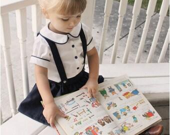 Molly Schoolgirl Blouse: Girls Blouse Pattern, Baby & Toddler Blouse Pattern