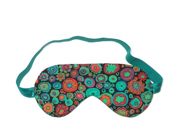 Sleep/Travel Eye Mask - Jade MultiColour Fabric, Gifts under 20, Gifts for Her