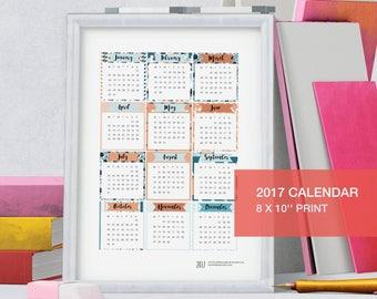 12 month calendar 2017