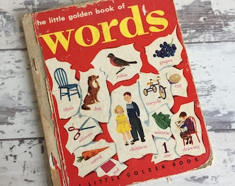 Vintage Little Golden Book of Words - 1948 Edition J