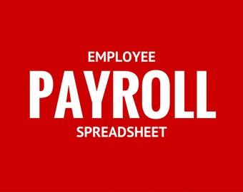 Employee Payroll Spreadsheet Template