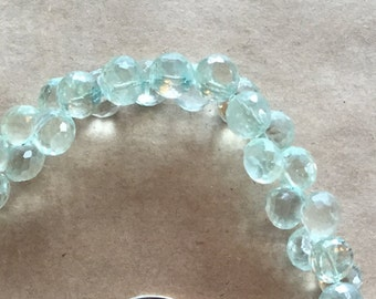 Micro-faceted Green Amethyst Briolettes   (Item # 5481)