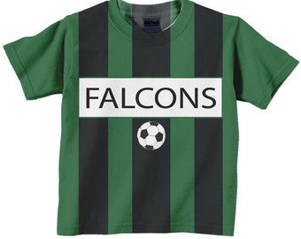 Personalized Soccer Shirt, Boys Soccer Team Jersey, T-Shirt, Custom Colors, Any Name