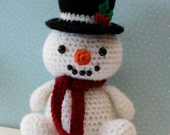 Amigurumi Crochet Pattern -  Snowman