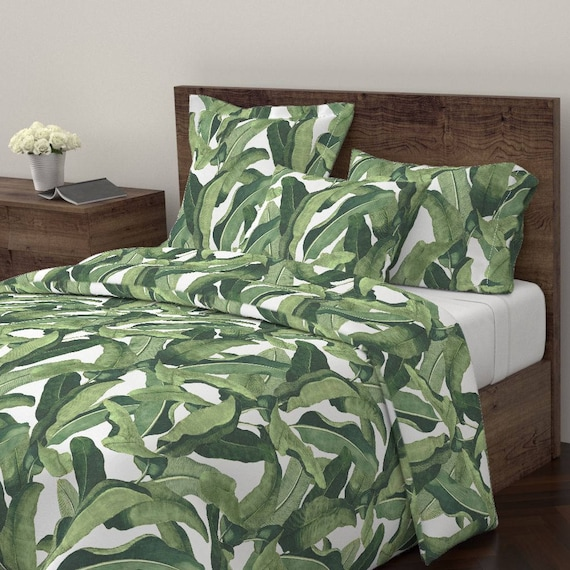 Gorgeous Duvet Cover with Palm Leaf Design by Roostery