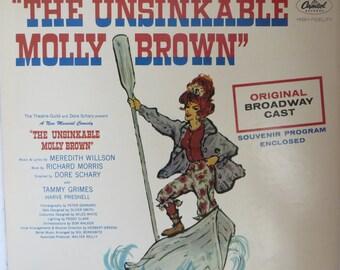 Vintage Vinyl LP Unsinkable Molly Brown, Original Broadway Cast Capitol Records - SW 2152