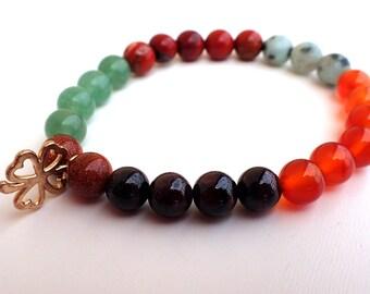 Fertility bracelet, healing bracelet woman. Carnelian bracelet, garnet bracelet, beaded bracelet woman. Healing stones woman, Libido stones