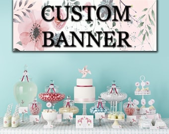 Printed Custom Vinyl Banner for Every Occasions - FREE FINISHINGS - FREE 24hr Turnaround