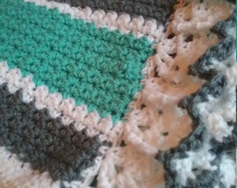 So soft crochet baby blanket. You pick the colors