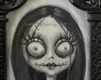Nightmare Before Christmas « Sally » Original peinture par Lori Gutierrez !  OOAK Art !