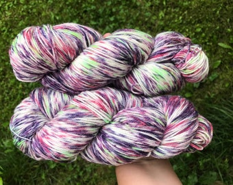 Squashed Saskatoons - Hand Dyed Yarn - SW Merino Wool/Nylon (80/20) Fingering/Sock Weight