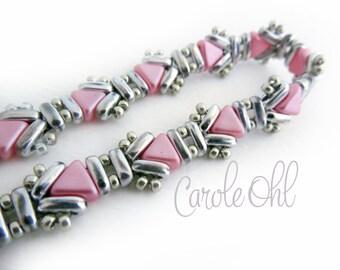 Usonia Bracelet Kit - Pink & Silver by Carole Ohl