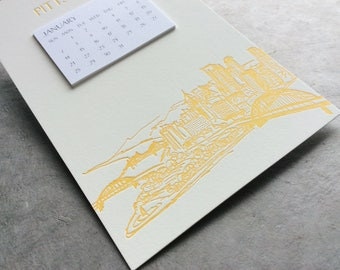 Pittsburgh Cityscape Postcard Calendar