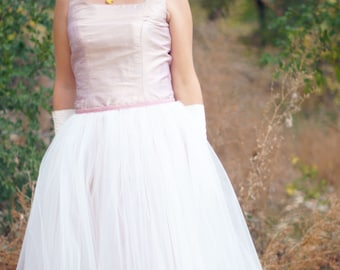 Tulle Overskirt---'57 Retro---Wedding Dress Accessory