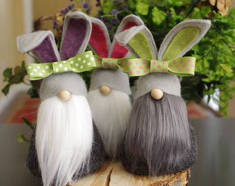 Darling BUNNY Gnome, Nordic Gnome, Scandinavian Gnomes, Spring, Gnome Gifts, Easter Gifts, Easter Basket, Bunnies, Easter Gnomes