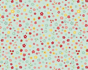 One Yard of Sweetest Petals in Blue from The Sweetest Thing by Zoe Pearn