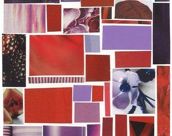 Purple Mosaic Card
