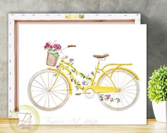 Bicycle Art, Bicycle Wall Art, Bicycle Print, Bicycle Wall Decor