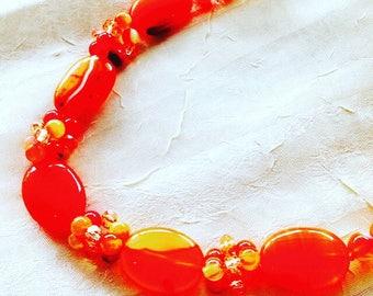 Carnelian Necklace, Handmade Jewelry by NorthCoastCottage Jewelry Design & Vintage Treasures