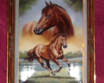 Franklin Mint Thoroughbred Horse Plate