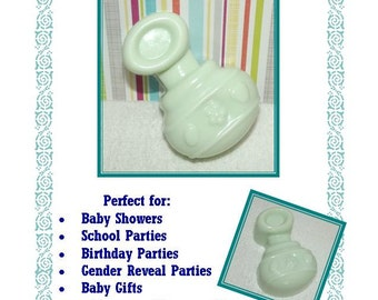 20 Baby Shower Soap Favors, Baby Rattle Soap Favors, Gender Reveal Shower Favors, Welcome Baby Favors