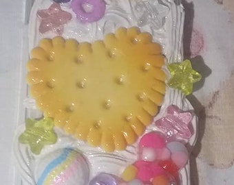 READY TO SHIP Kawaii Fairy Kei Heart Cookie Biscuit Ice Cream Doughnut Donut Bunny Apple Iphone X Deco Case