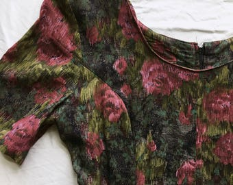Vintage Floral Wideleg Jumpsuit Medium / Large