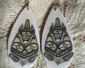 Haida Cat earrings