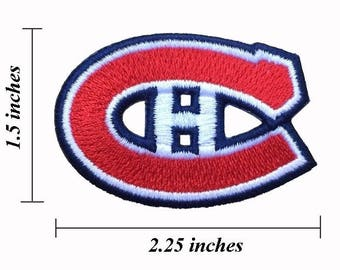 """Montreal Canadiens Logo Size 2.25"""" Embroidered Iron 1 Patches"""