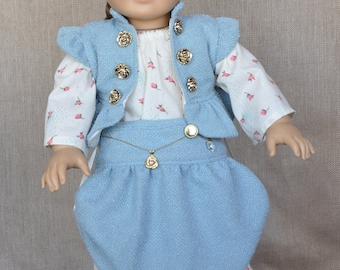 Unique outfit for 18 inch dolls, fits American Girl and similar dolls.