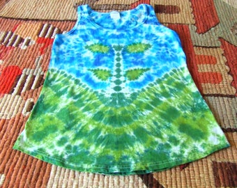 Women's XS Tie Dye Tank Top - Spring Sprout - Ready to Ship