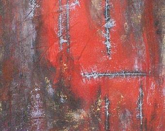 Acrylic Painting Abstract Art Original CONTEMPORARY ART TEXTURED - Horror Story :))
