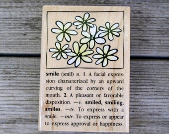 Hero Arts Wood Mounted Rubber Stamp Smile Dictionary Design