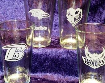 Baltimore RAVENS Beer Pint 4-Pack Set