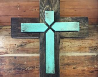 WOOD CROSS - Christian Home Decor - Rustic Cross - Christian Gift - Scripture Art - Bible Verse - Wall Decor - Home Decor