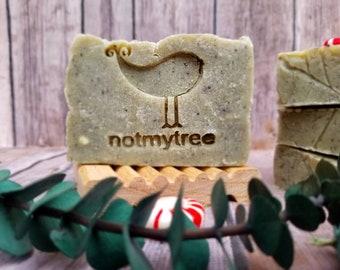 Peppermint Eucalyptus Soap, Vegan Soap, Handmade Soap, Homemade Soap, Minty Soap, Gray Soap, Mother's Day Gift, Gift for Her, Natural Soap